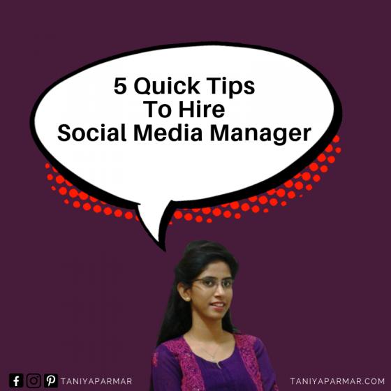 social media manager taniya parmar